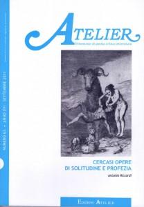 Copertina della rivista Atelier, n. 63
