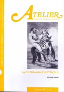 Copertina della rivista Atelier, n. 66
