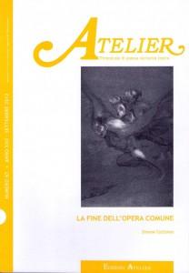 Copertina della rivista Atelier, n. 67