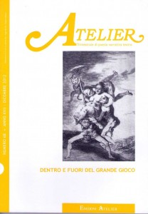 Copertina della rivista Atelier, n. 68