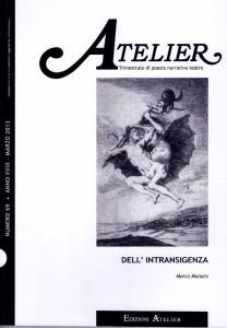 Copertina della rivista Atelier, n. 69