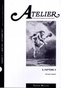 Copertina della rivista Atelier, n. 71