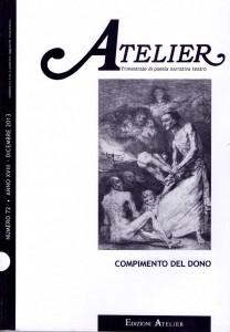 Copertina della rivista Atelier, n. 72