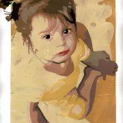 Ritratti - Valeria, di Vanessa Mineo (pittura, acrilico, 26x36 cm)