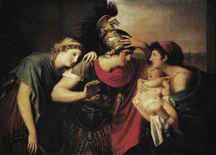 Incontro di Ettore e Andromaca, di Gaspare Landi (1794-95)