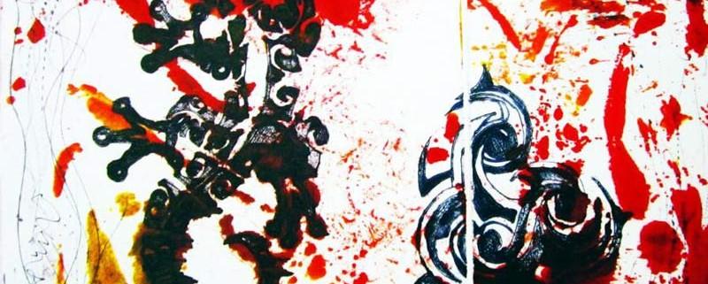 Ombre sfuggenti, di Arianna Angelini (35x30 cm, puntaelettrica, trapano e puntasecca su plexiglass. stampa con metodo a contatto)