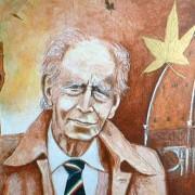 Ritratto di Mario Luzi, di Luca Macchi, 2003, Centro Studi La Barca, Pienza (SI)
