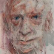 Mario Luzi (2008) di Paolo Del Giudice, olio su cartone, 90 x 50