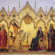 Simone Martini, Annunciazione tra i santi Ansano e Margherita, proveniente dal Duomo di Siena, Galleria degli Uffizi di Firenze, 305x265 cm