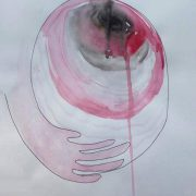 In the womb, acquerello (21x30 cm) di Antonella Lucchese