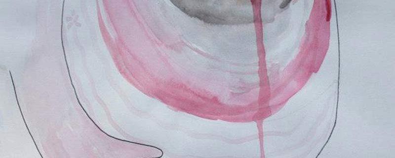 In the womb, acquerello (21x30 cm) di Antonella Lucchese