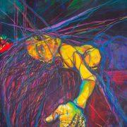 """""""Abbandono"""", di Giulia Gellini, 70x100x3 cm"""