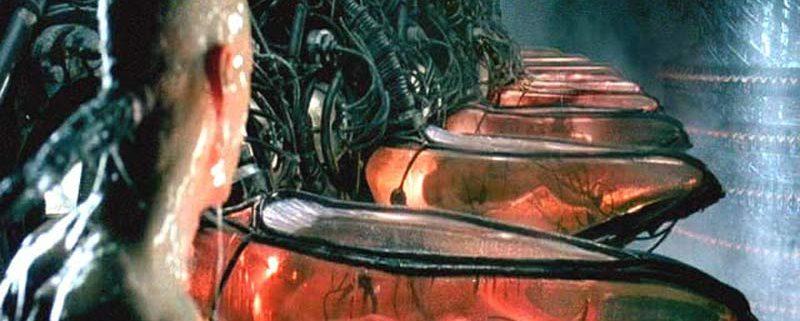 La scena del risveglio del protagonista, dal film Matrix