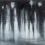 Figure nel buio, di Eleonora Mazza (pittura, olio, cm 100x70)