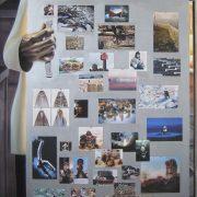 IL FRIGORIFERO, di Anna Gritti, 2010, tecnica mista su tela, 180x95cm