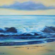 Conchiglie sulla riva, di Barbara Ghisi (2009, olio e resina su tela, cm 50x60, collezione privata)