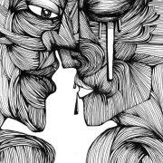 Gli Amanti, disegno di Teresa Sarno, 21x29 cm