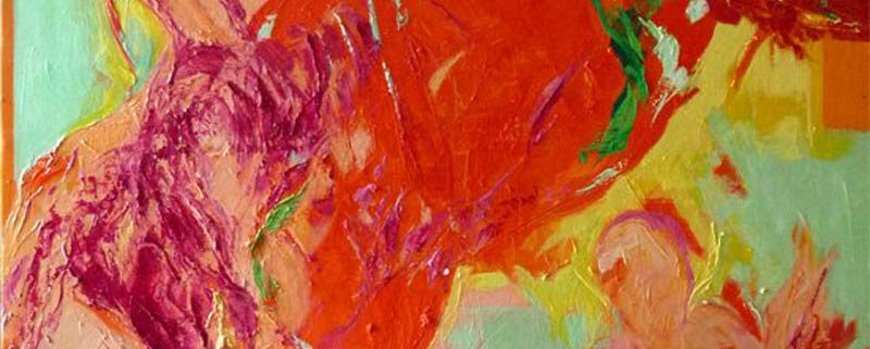 Il fuoco della dea mi pervade, di Kumudra (olio, 100x140x3 cm)
