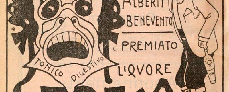 Manifesto pubblicitario del Liquore Strega risalente al 1902