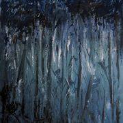 Foresta incantata, di Silvia Rossi, acrilico su tavola, 80x110 cm