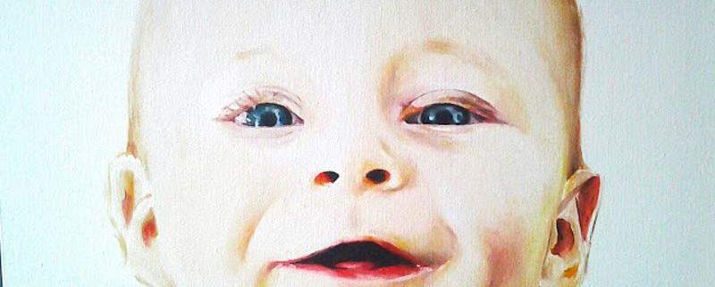 Lorenzo, ritratto di Monia Perrone, Olio, cm 60x30x2