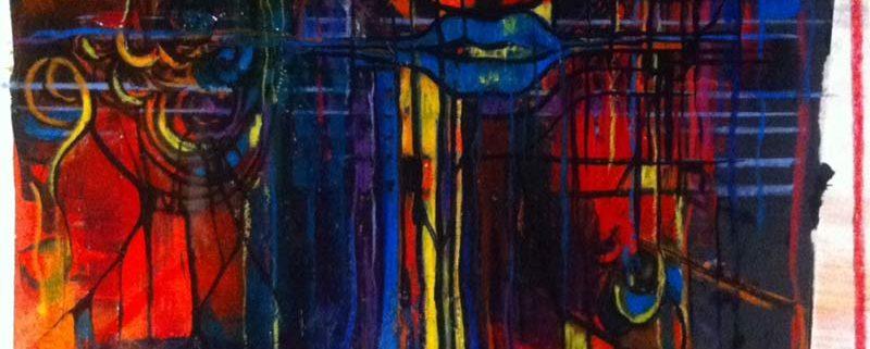 'In_comprensione', di Giulia Gellini. Tecnica mista, cm 35x50, 2016