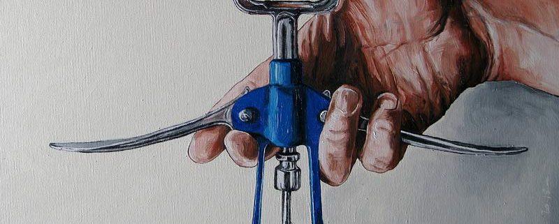 Un'ottima annata, di Cristina Carcavecchia (olio su tela, 60x40 cm)