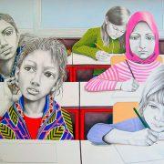 OTTOTREDICI di Anna Gritti, 2010, tecnica mista su carta, 120x200cm
