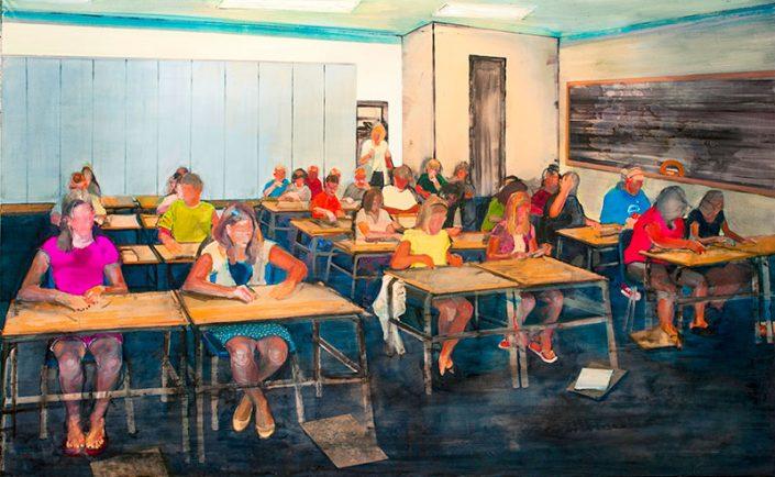 Tangram, di Stefano Bullo, olio, 210x130cm