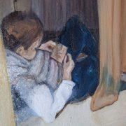 Mirror, di Tonia Erbino, dettaglio, olio su tela, 2015