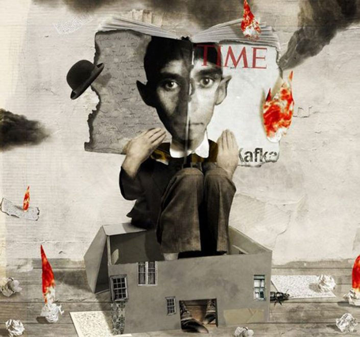 Franz Kafka, illustrazione di Antonello Silverini