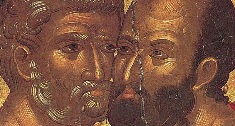 Abbraccio fra San Pietro e San Paolo