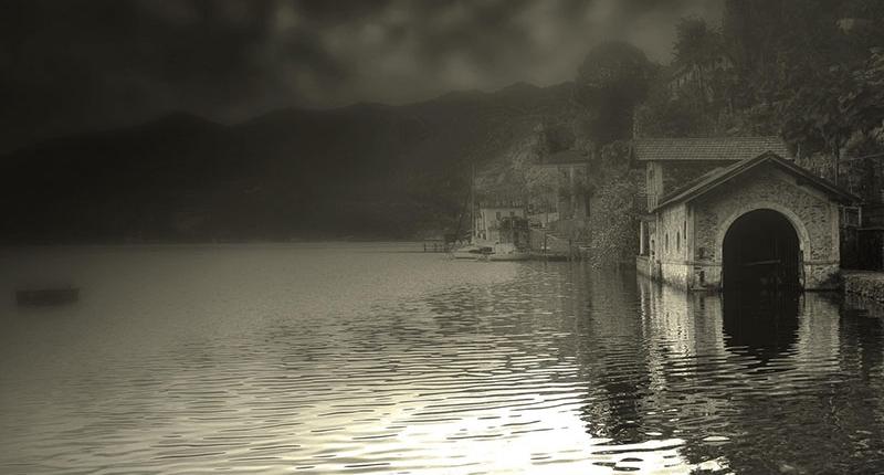 Scorcio sul lago del romanzo