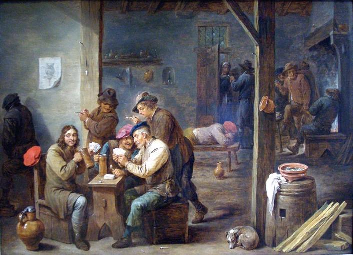 Scena di taverna, di David Teniers il Giovane (1610-1690)