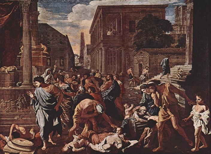 La peste di Azoth, di Nicolas Poussin, 1631, Parigi, Louvre.