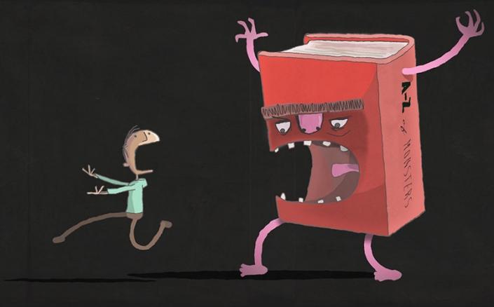 Aiuto, il libro si è mangiato il prof!