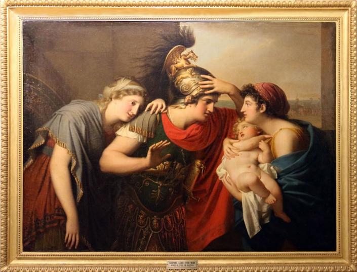 Incontro di Ettore con Andromaca, dipinto di Gaspare Landi (1756-1830)