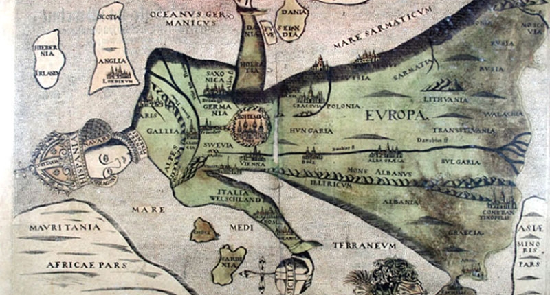 Antica carta dell'Europa