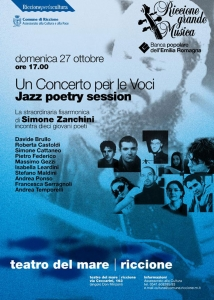 locandina di una Jazz poetry session, con Simone Cattaneo