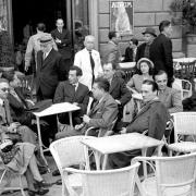 Storica fotografia del caffè Giubbe rosse a Firenze