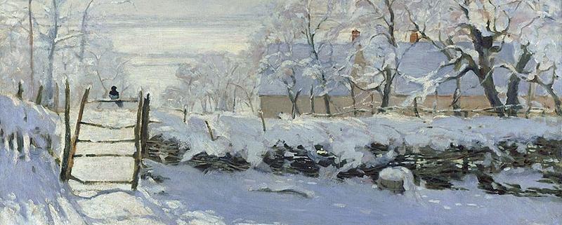 Monet, La gazza e la neve