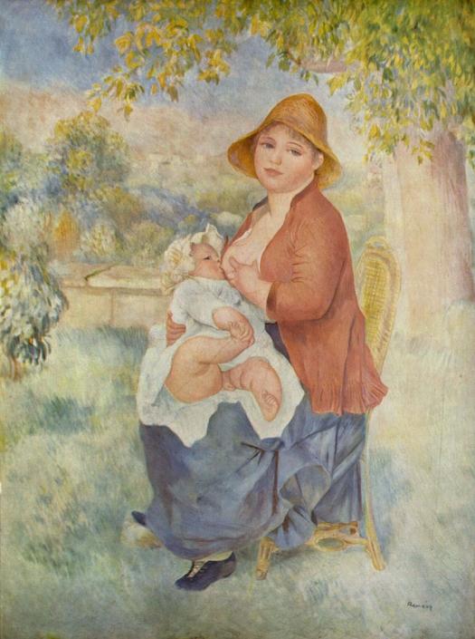 Renoir, L'Enfant au sein (Maternité)