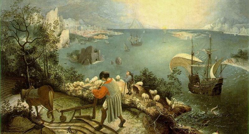 Pieter Bruegel il Vecchio, Caduta di Icaro